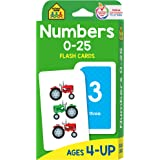 School Zone - Numbers 0-25 Flash Cards - Ages 4 to 6, Preschool, Kindergarten, Math, Addition, Subtraction, Numerical Order,