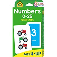 School Zone - Numbers 0-25 Flash Cards - Ages 4-6, Preschool