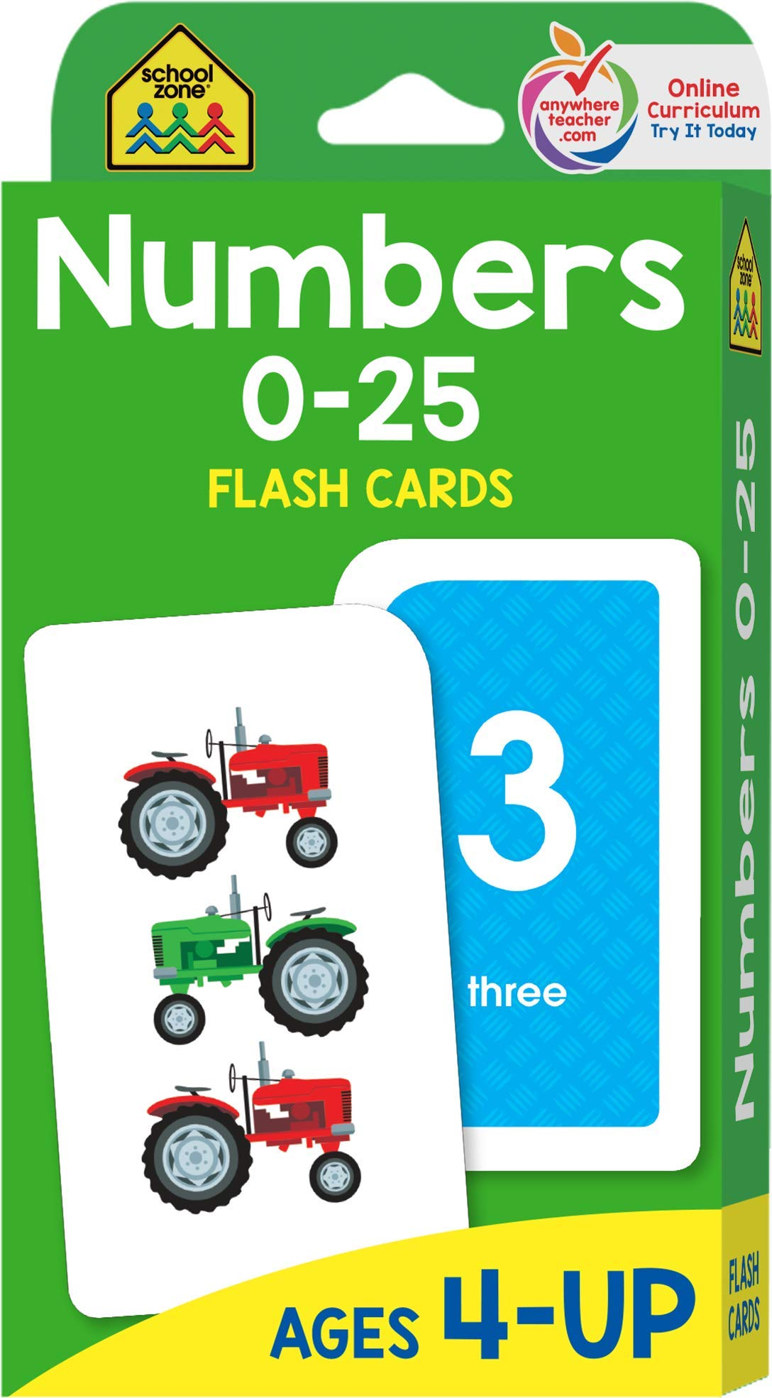School Zone - Numbers 0-25 Flash Cards - Ages 4 to 6