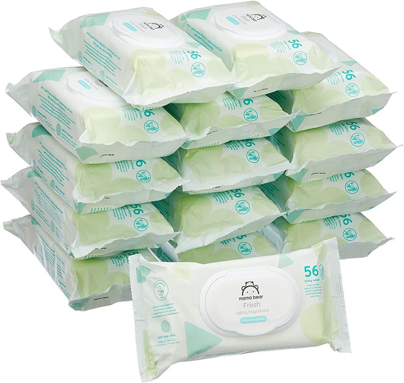 Marke 840 T/ücher 15er Packung Mama Bear Fresh Baby-Feuchtt/ücher