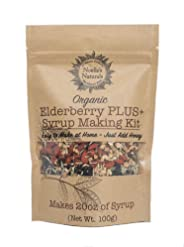 Noelle's Naturals Organic Elderberry Syrup Making Kit - Makes 20oz of syrup, Our Concentrated Recipe is Easy to make, PLUS Go