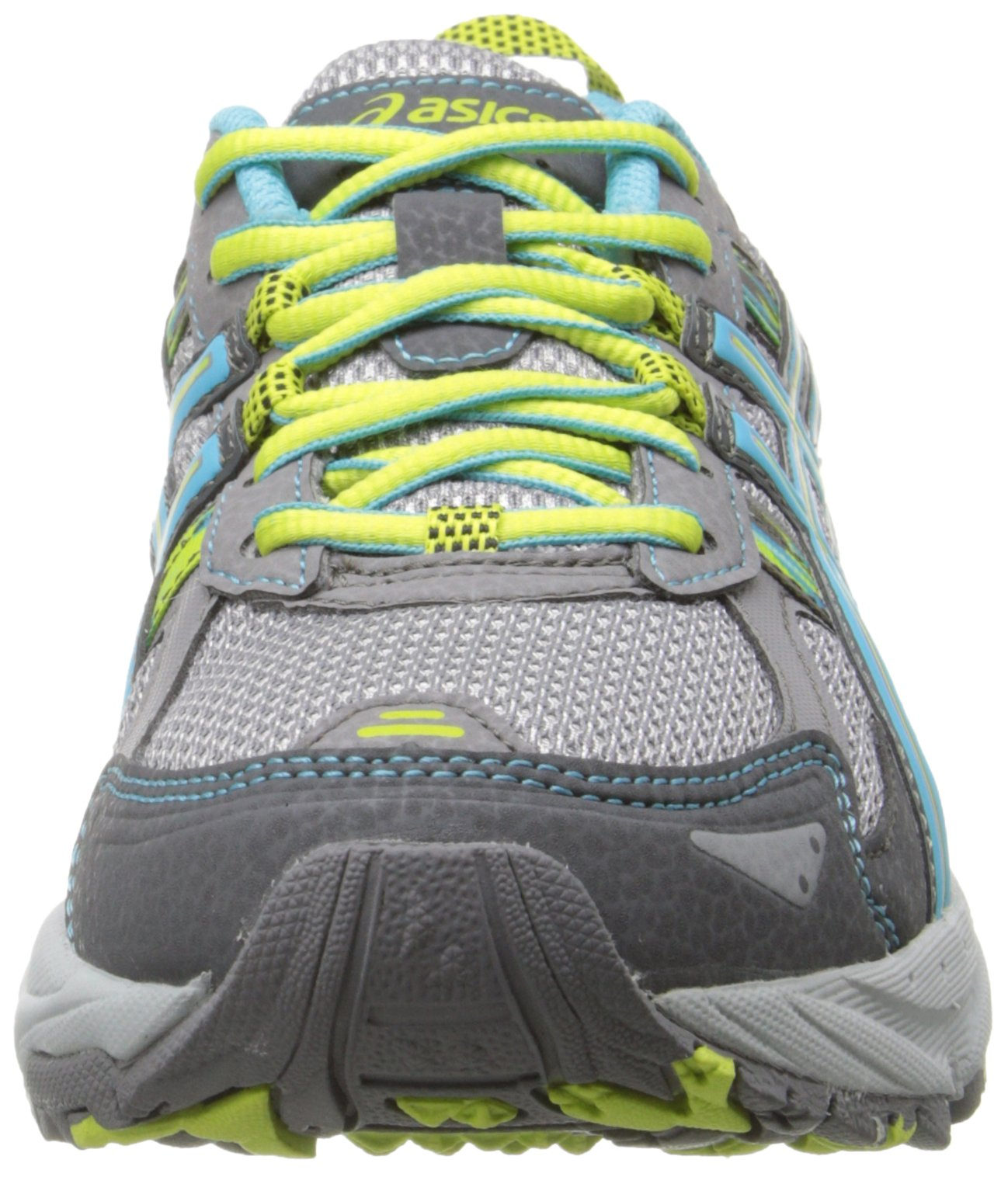 ASICS Women's Gel-Venture 5 Running Shoe, Silver Grey/Turquoise/Lime Punch, 6 M US by ASICS (Image #4)