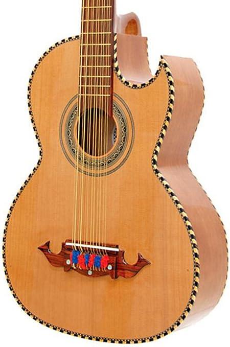 paracho Elite Guitarra Victoria de 12 cuerdas Bajo Sexto Natural ...
