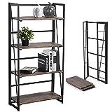 Coavas No-Assembly Folding-Bookshelf Storage