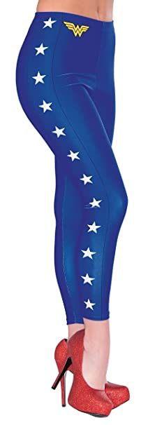 4b38fcd5b2959 Rubie's 38029DC Comics Wonder Woman Adult Leggings One Size As Shown ...