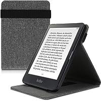 kwmobile Hoes compatibel met Kobo Clara HD - lusstandaard - e-reader beschermhoes - stof grijs