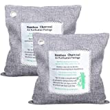 Natural Air Purifying Bag, Bamboo Charcoal Air Freshener, Odor Absorber and Air Purifier Reusable for Car, Closet, Bathroom, Room, Pet Areas, Shoe Cabinet (500g x 2 Pack)