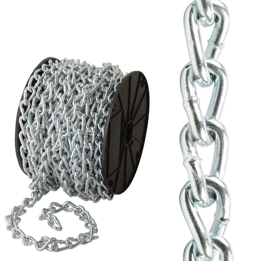 Everbilt #2/0 x 75 ft. Zinc-Plated Twisted Link Chain