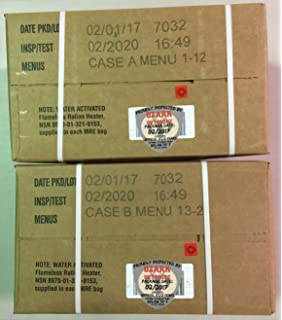 MRE 2020 Inspection Date Case, 24 Meals with 2020 Inspection Date, 2017 Pack Date