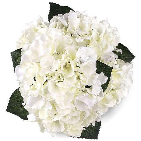 Amazon silk hydrange white 5 heads soledi artificial flower silk hydrange white 5 heads soledi artificial flower arrangements bunch bridal bouquet wedding party garden home mightylinksfo