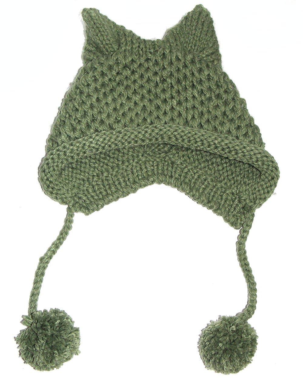 BIBITIME Women\'s Hat Cat Ear Crochet Braided Knit Caps Warm ...