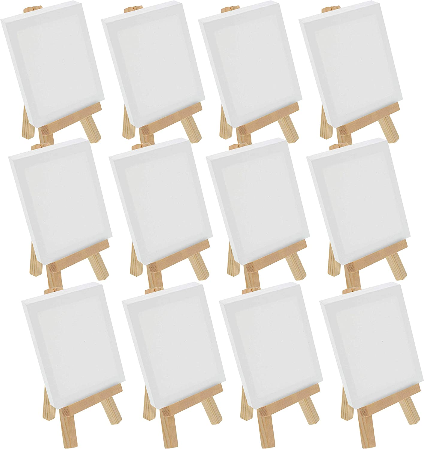 Pack of 24 Art Supply Mini 5 inch Natural Wood Craft Business Card Photo Display Easel U.S