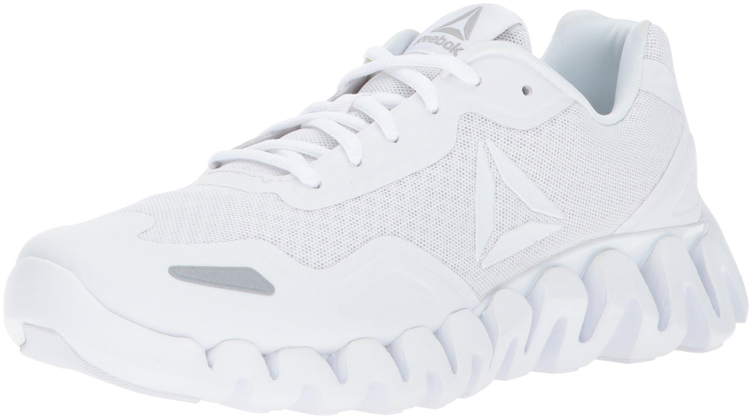 Reebok Women's Zigpulse Track Shoe,White/Steel,6 M US