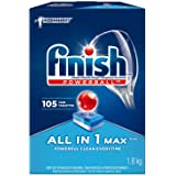 Finish Dishwasher Detergent, All In 1 Max, Fresh, 105 Tablets