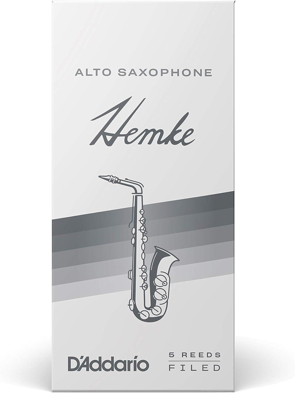 RHKP5ASX250 D/'Addario Woodwinds Hemke Alto Sax Reeds Strength 2.5 5-pack
