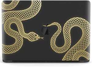 Mertak Hard Case for Apple MacBook Pro 16 Air 13 inch Mac 15 Retina 12 11 2020 2019 2018 2017 Gold Luxury Cover Minimal Clear Viper Design Laptop Protective Abstract Plastic Snake Print Black
