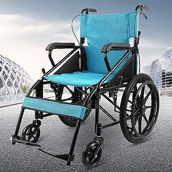 Amazon.com: A-MUZI silla de ruedas autopropulsada, silla de ...