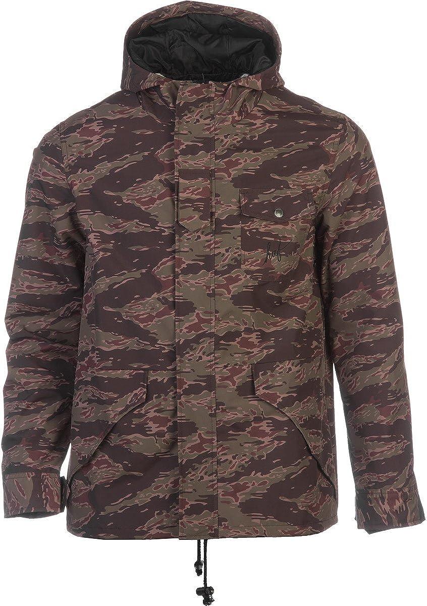 HUF Hooded Deck Jacket (camo / tiger camo): Clothing