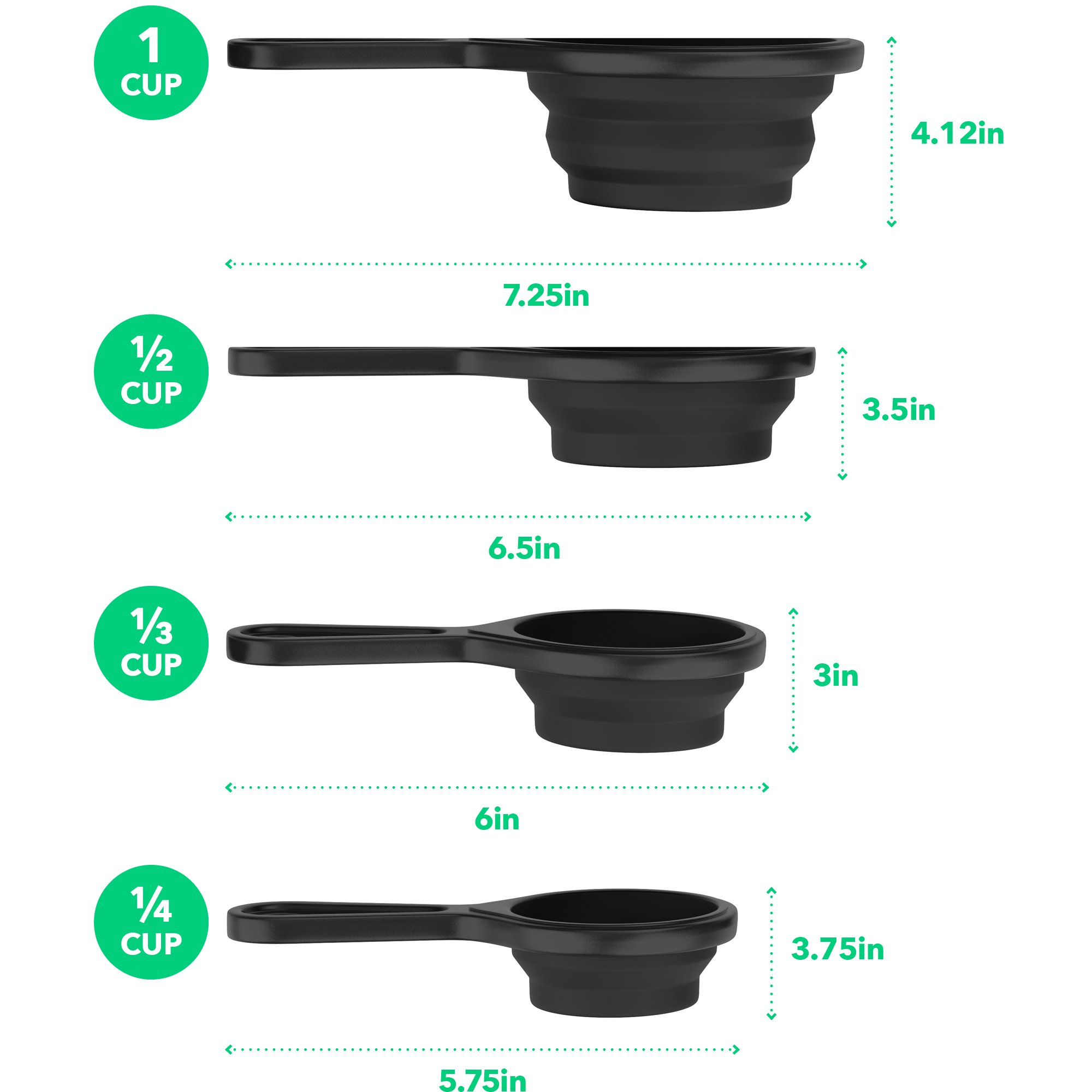 Vremi 15 Piece Kitchen Gadgets Set - 5 pc Cooking Utensils 4 pc Measuring Cups with Whisk Can Opener Pizza Cutter Cheese Grater Ice Cream Scoop Veggie Peeler - Small Prep Tools for Camping or Travel by Vremi (Image #7)
