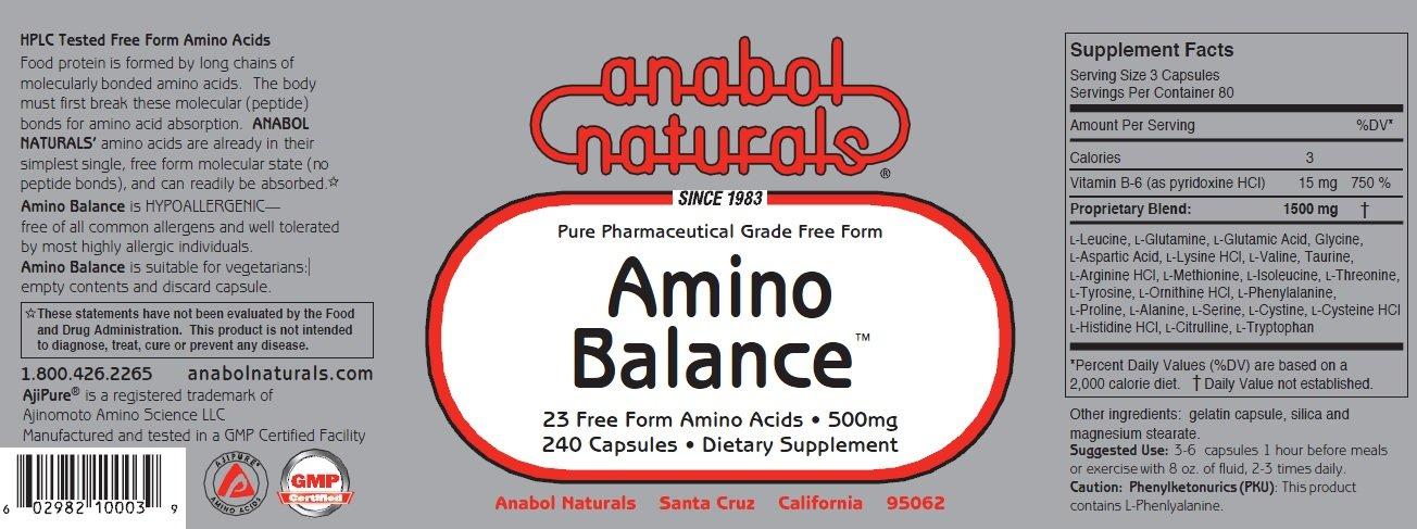 Anabol Naturals Energy Stack: Amino Balance 240 caps & Creatine 240 caps (1 Month Supply) by Anabol Naturals