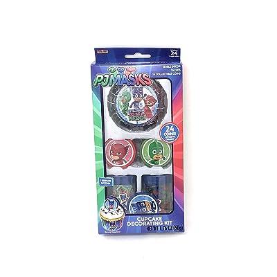PJ Masks Cupcake Decorating Kit ~ 24 count: Home & Kitchen