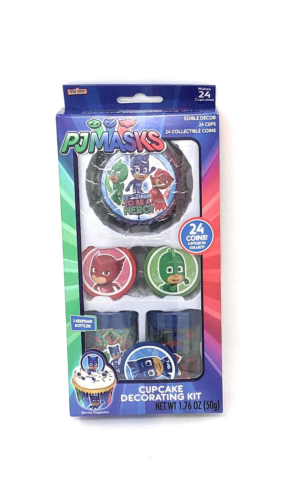 PJ Masks Cupcake Decorating Kit ~ 24 count