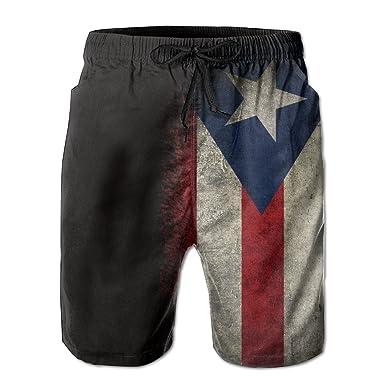 6337fa7151 ZQ-SOUTH Men's Puerto Rico Flag Vintage Quick Dry Summer Beach Surfing Board  Shorts Swim Trunks Cargo Shorts | Amazon.com