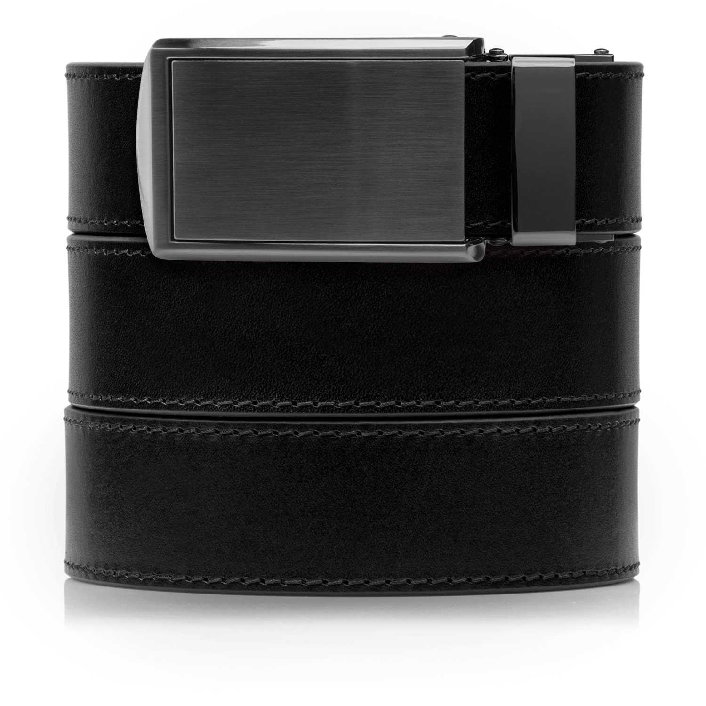 SlideBelts Men's Onyx Premium Full Grain Leather with Gunmetal Buckle