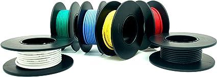 Lot de 10 c/âbles /électriques unipolaires AWG 22 10 cm /électriques cuivre /étam/é fil /électrique