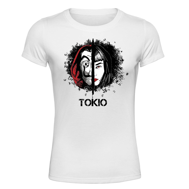 La Casa de Papel Terza Stagione Tokyo T-Shirt Maglietta Donna La Casa di Carta