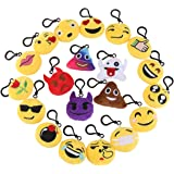 "BESTOMZ Emoji Mini Plush Pillows, Keychain Decorations, emoticon pillow, Kids Party Supplies Favors, 2"" Set of 20"