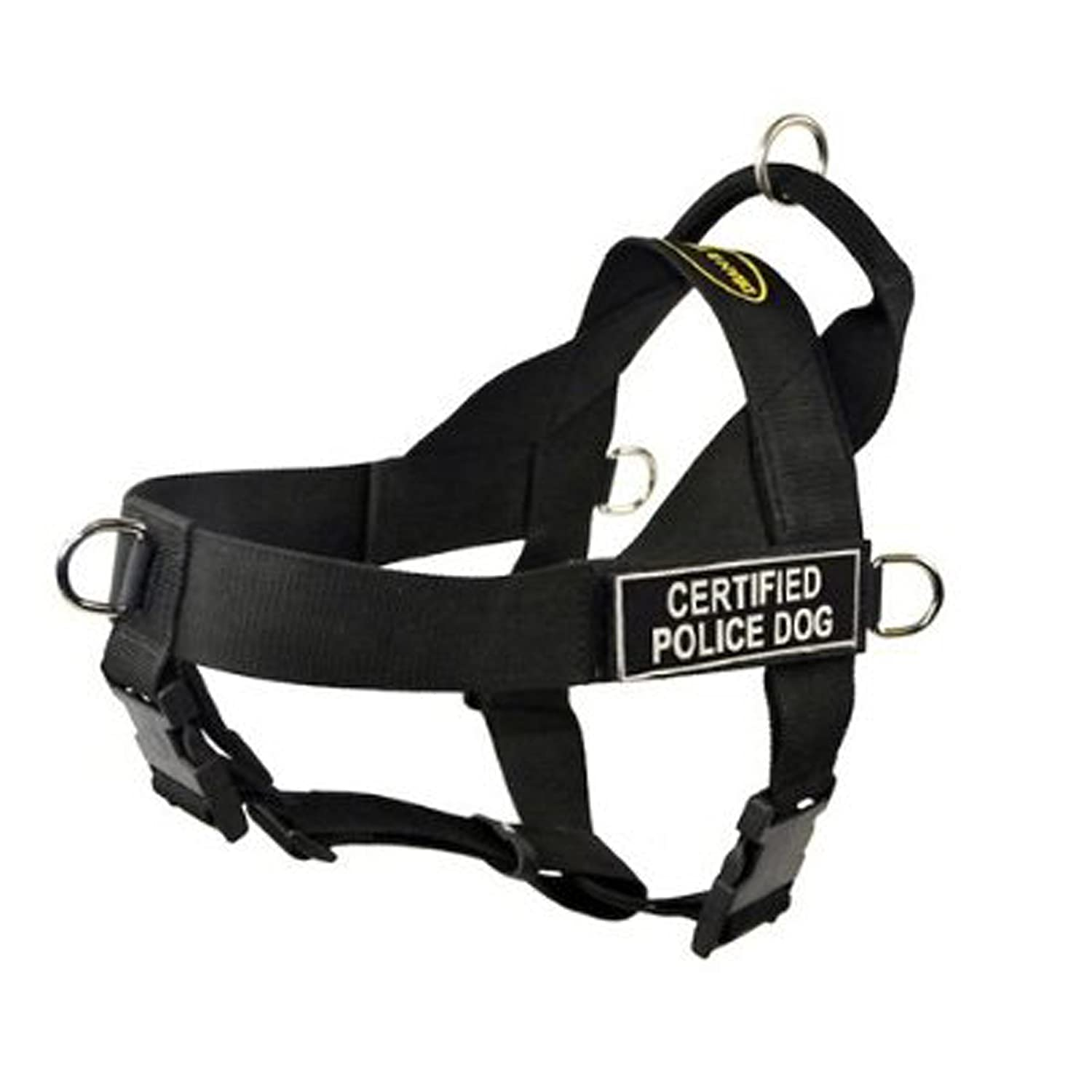 Dean & Tyler Universal No Pull Dog Harness, Certified Police Dog, Black, X-Small, Fits Girth Size  53cm to 64cm