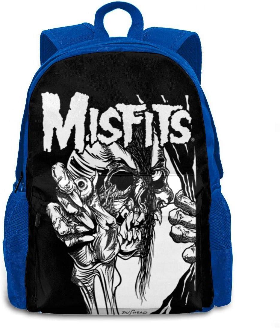Adult Laptop Bags Misfits Backpacks School Bags Backpacks One Size Blue Shoulder Bags