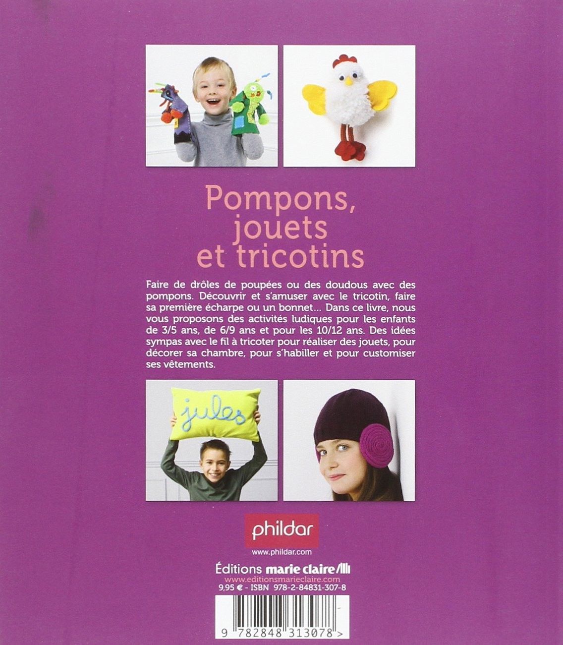 cb7a2c113e55 Amazon.fr - Pompons, jouets et tricotins   38 idées pour s amuser avec le  fil à tricoter - Thierry Lamarre, Pierre Nicou - Livres