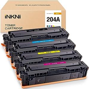 INKNI Compatible Toner Cartridge Replacement for HP 204A CF510A CF511A CF512A CF513A Used in Color Laserjet Pro MFP M180nw M180n M154a M181 M154nw M181fw M154 (Black Cyan Yellow Magenta, 4-Pack)