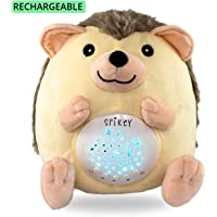 Urban Brahma Baby White Noise Machine Baby Night Light Hedgehog | Baby Gifts | Rechargeable with 13 Baby Soother Lullaby & Nature Sounds | Crib Soother | No Batteries Needed | 3 Color Stars Projector