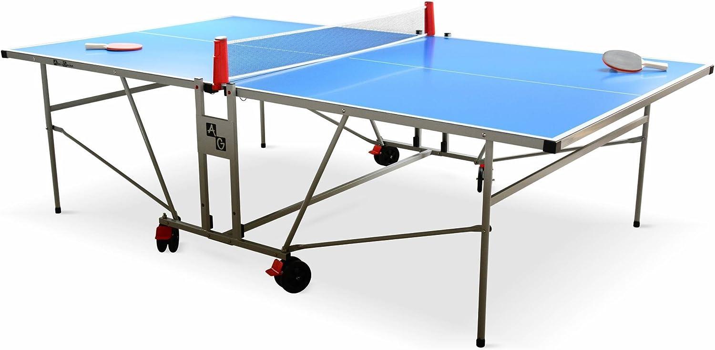 Alice's Garden - Table de ping Pong Outdoor Bleue - Table Pliable ...
