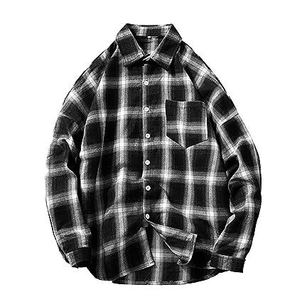 Homme homme chemise à carreaux haut à manches courtes smart casual travail carreaux taille s-xxl