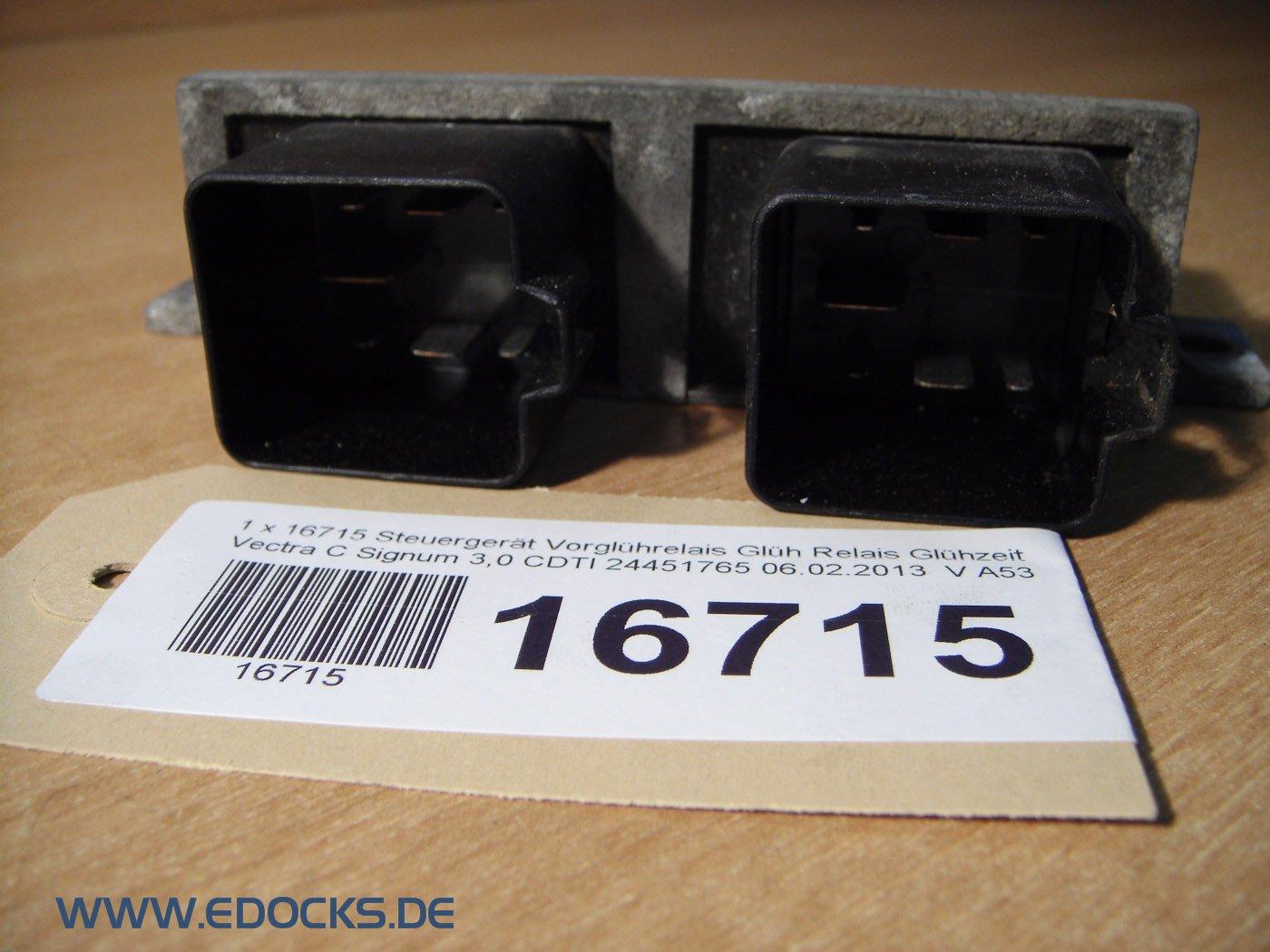 Dispositivo de control Uso lühre Lais Bujía Relé glühzeit Vectra C Signum 3,0 CDTI Opel: Amazon.es: Coche y moto