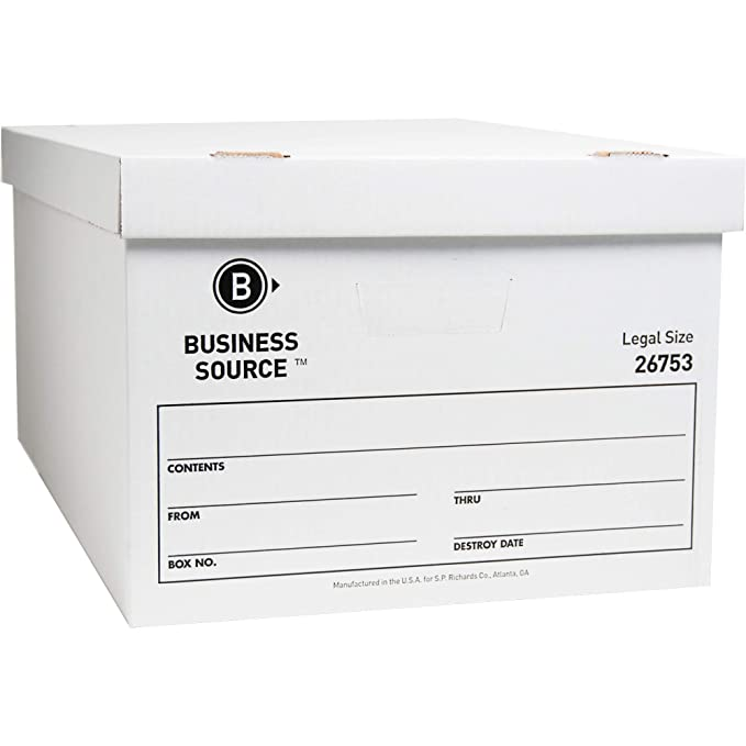 Amazon.com : Business Source Lift-Off Lid Light Duty Storage Box : Office Products