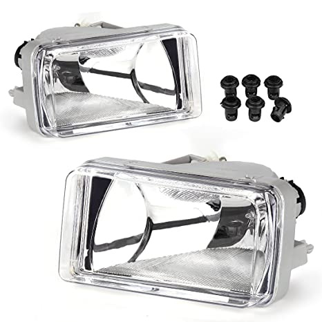 AUTOSAVER88 Fog Lights 5202 PS 12V 24W Halogen Lamp Clear Lens w/Bulbs For  Chevrolet Silverado 2008-2014 Avalanche 2007-2011 Suburban 2007-2014 Tahoe