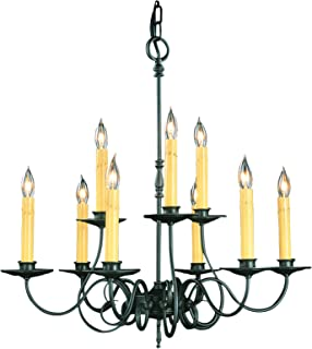 product image for Framburg 1319 CH 9-Light Black Forest Dining Chandelier, Charcoal