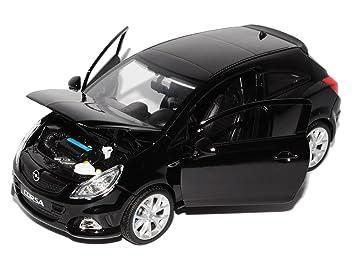 Corsa Noir Trois Porte Modèle D 124 Welly Voiture Opel OZPukXi
