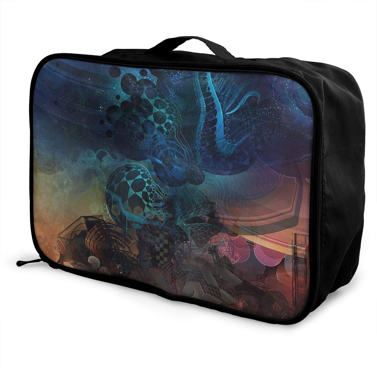 Travel Luggage Duffle Bag Lightweight Portable Handbag Art Abstract Large Capacity Waterproof Foldable Storage Tote