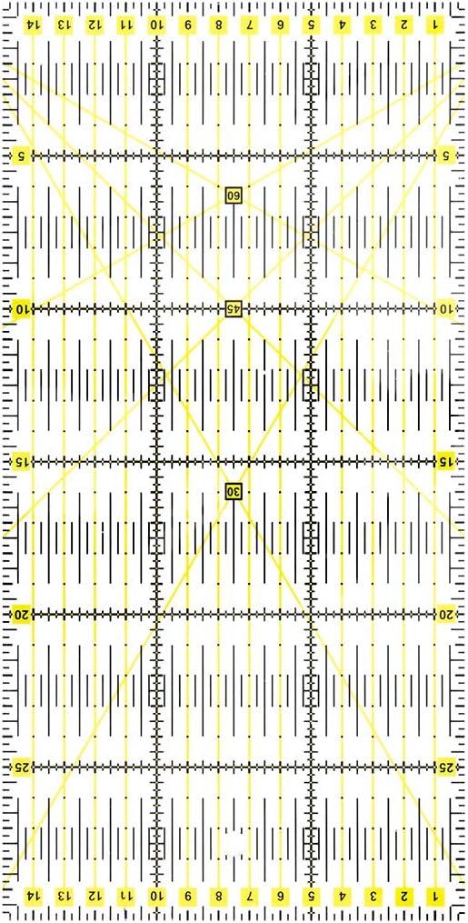 peinat R/ègle de Couture R/ègle Universelle R/ègle de Tailleur 30 x 15 cm arcyle Acrylique R/ésistant avec /Échelle en R/ègle Patchwork pour Coudre avec des Dimensions et des d/écoupes exactes