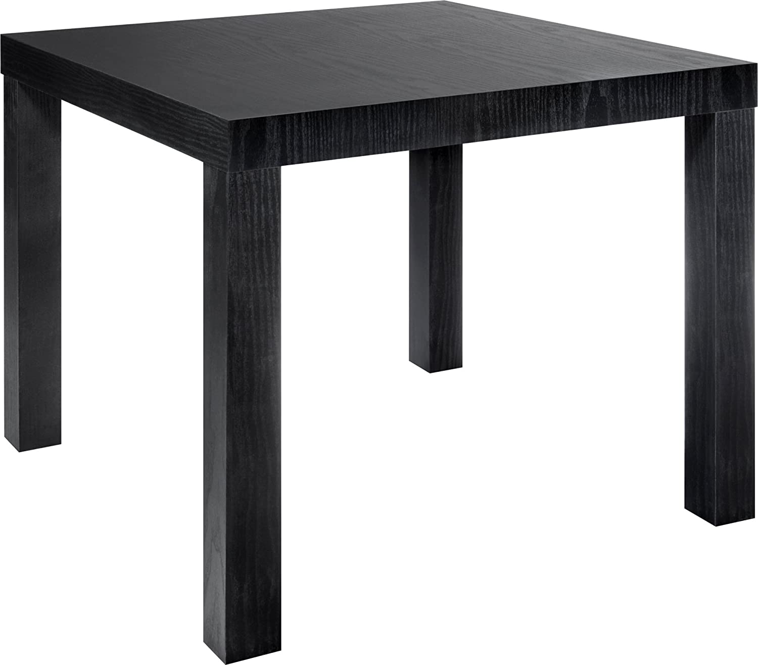 Black and wood coffee table - Amazon Com Dhp Parsons Modern End Table Black Wood Grain Kitchen Dining