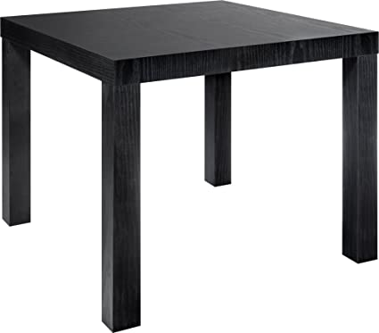 Pleasant Dorel Home Products Parsons Modern End Table Black Gmtry Best Dining Table And Chair Ideas Images Gmtryco