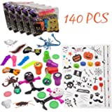 Bulk Halloween Toys Assortment for Kids-140 Pcs-Novelties Goodie Bags Fillers for Novelty Party Favors,Trick or Treat Supplies,School Classroom Giveaways,Filled Goody Bags,Game Prizes,Miniatures