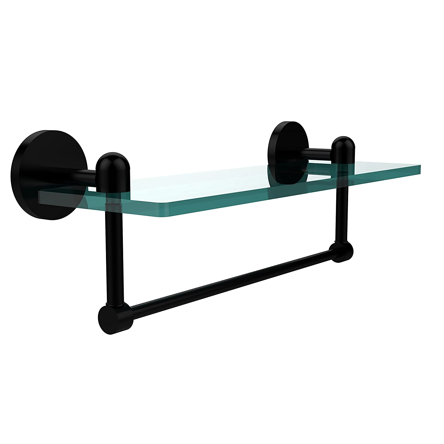 Allied Brass TA-1TB/22-SCH Glass Shelf with Towel Bar, 22-Inch x 5-Inch by Allied Brass B001O8AJXU 22 in.|サテンクローム サテンクローム 22 in.