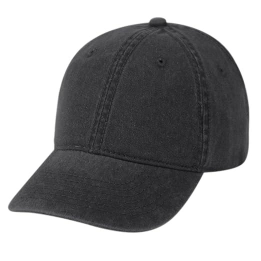 de9f2bf08 Amazon.com  Cotton Twill Pigment-Dyed Sunbuster Ball Cap (Black ...
